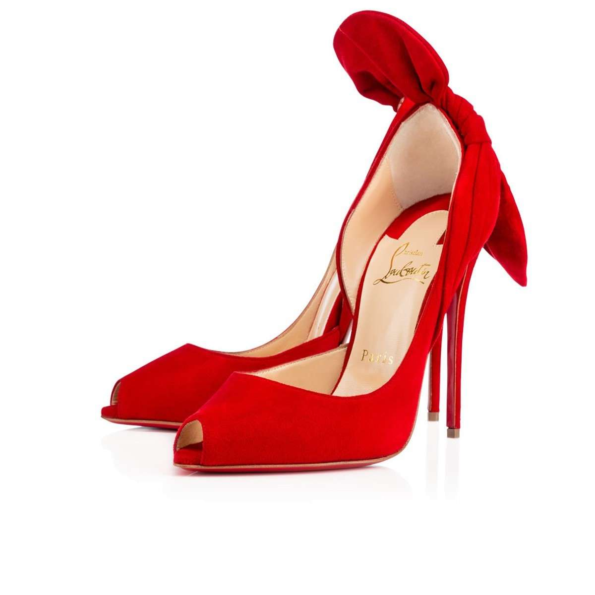 Pumps rosse in suede