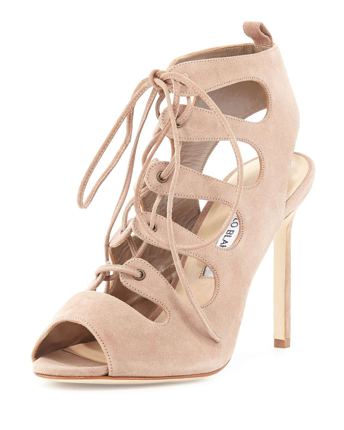 Sandali lace up in suede Attal
