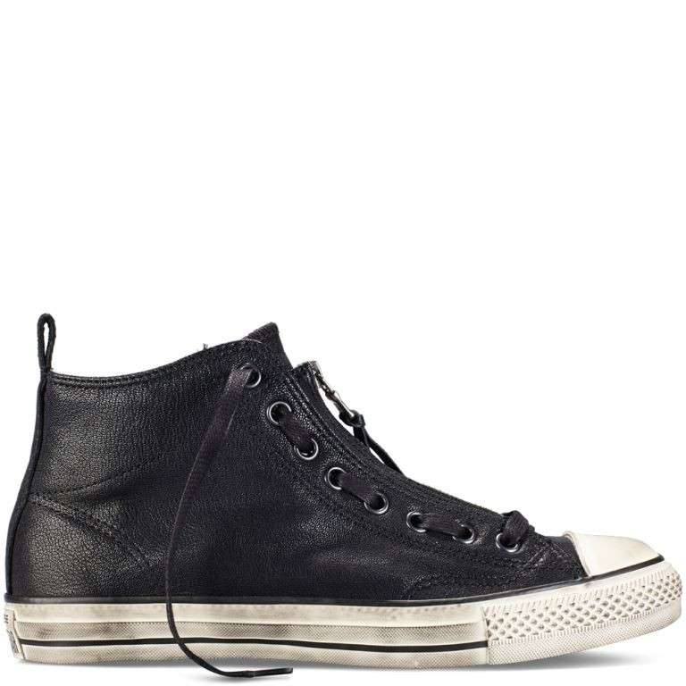 Sneakers in pelle nera