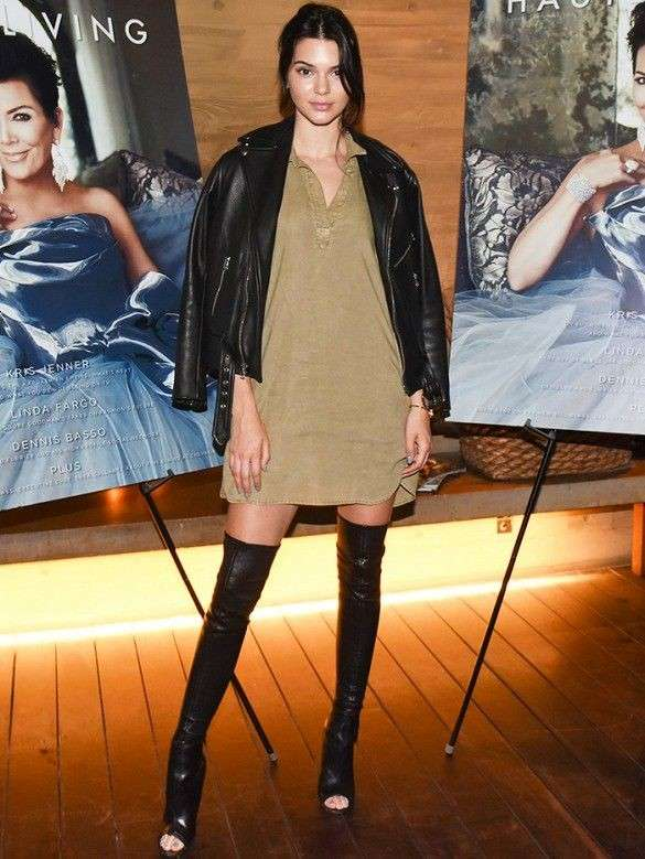 Kendall Jenner con cuissardes open toe