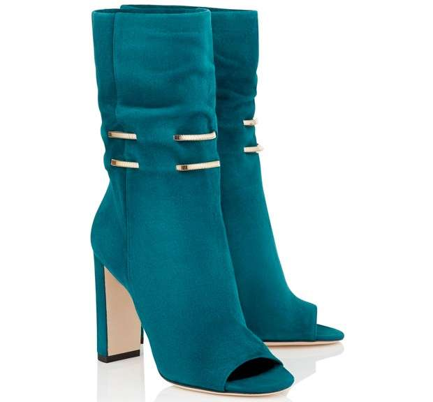 Stivali color teal open toe Jimmy Choo