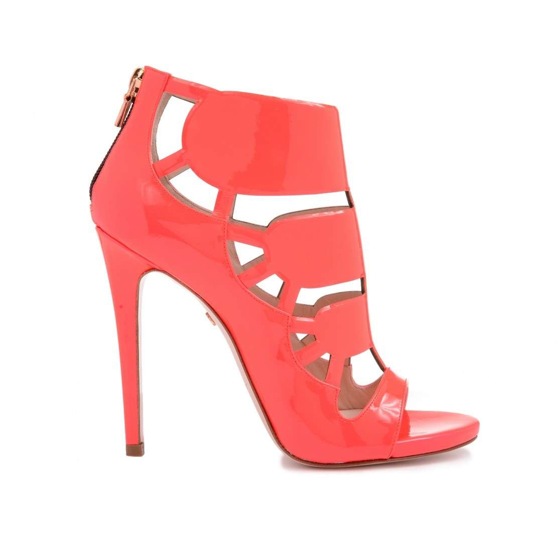 Cut out booties open toe corallo