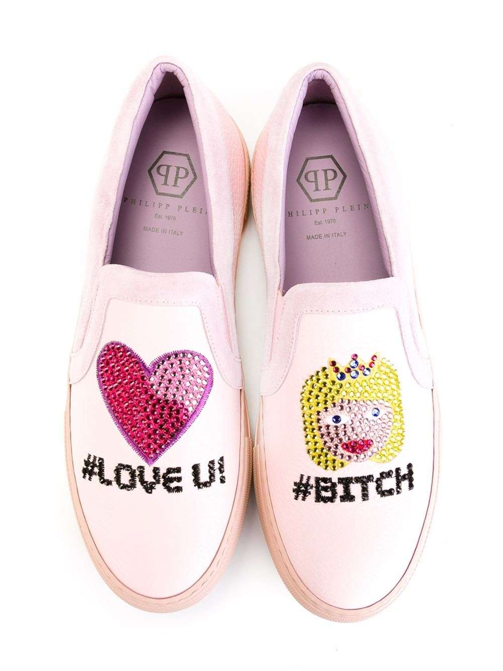 Slip on rosa Love You Phillipp Plein