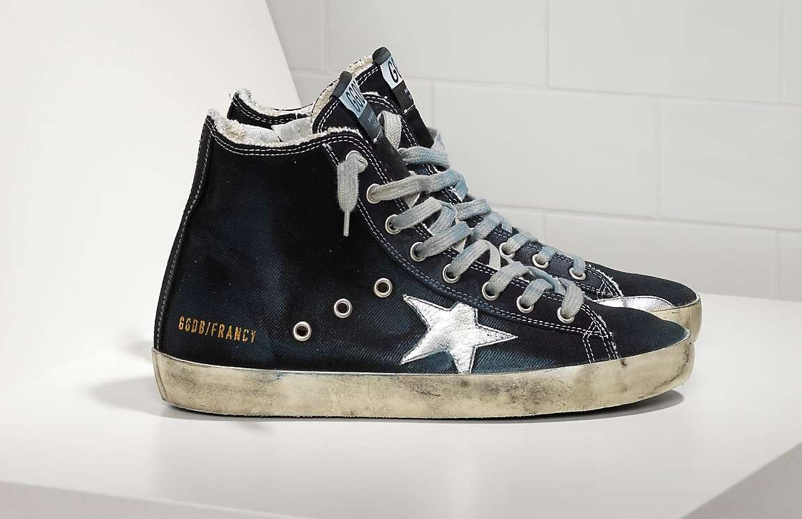 Sneakers blu notte Golden Goose