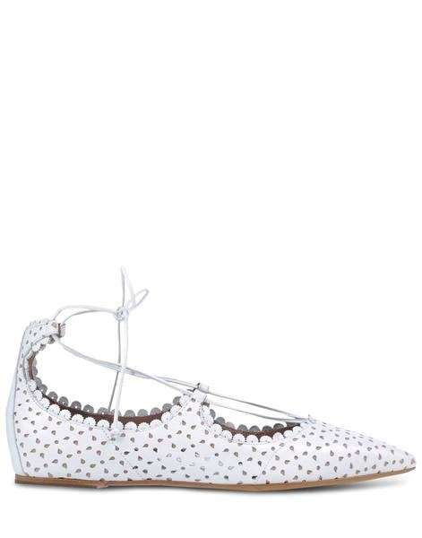 Ballerine lace up traforate bianche Tabitha Simmons