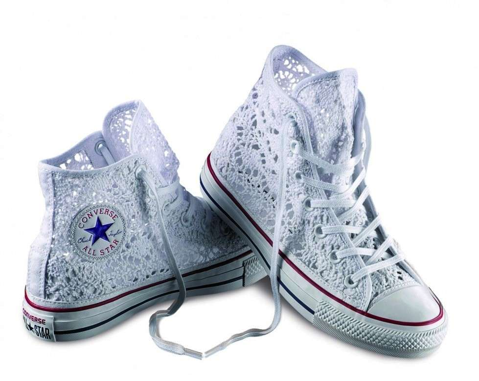 Sneakers bianche in pizzo Converse