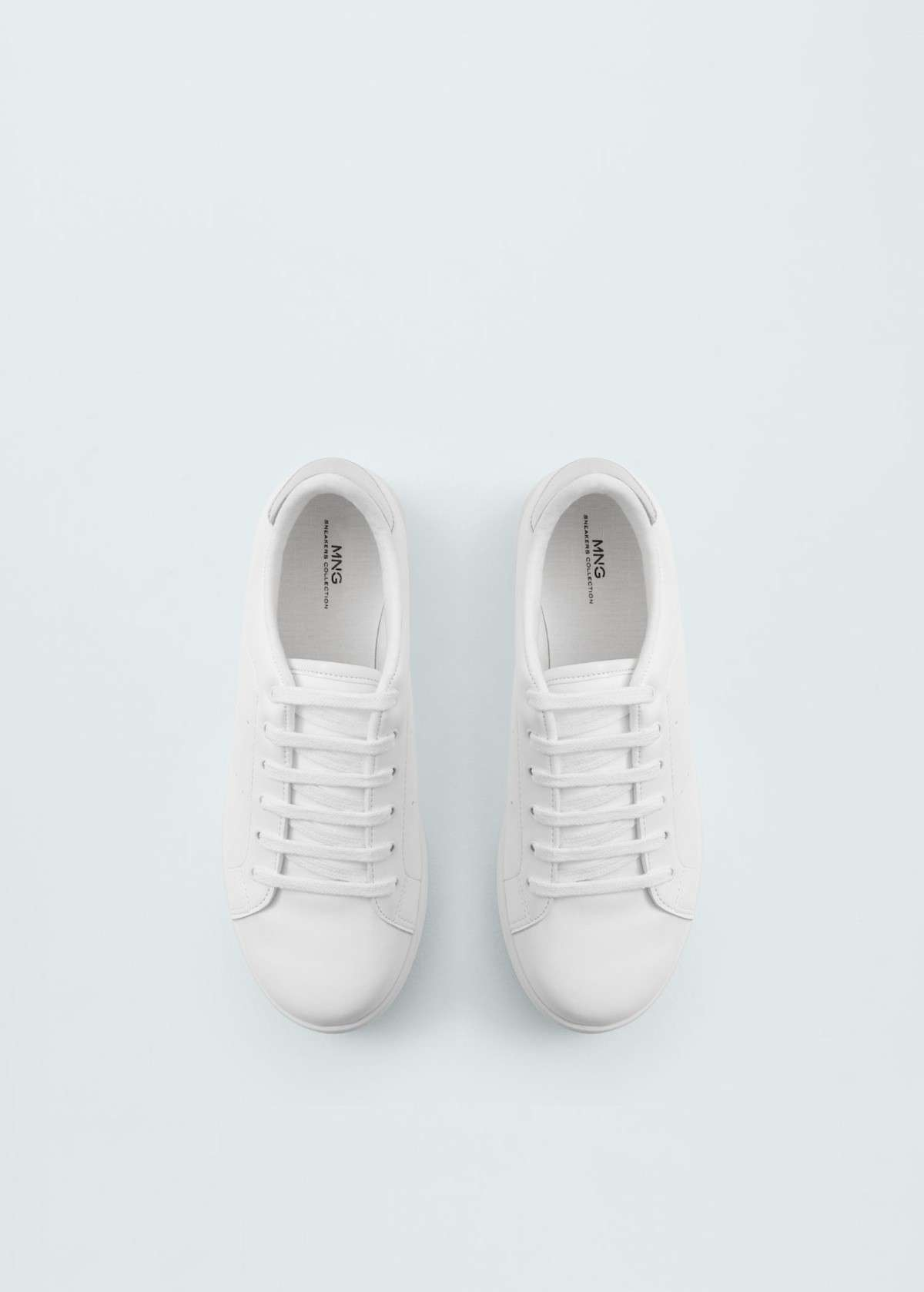 Sneakers bianche minimal Mango