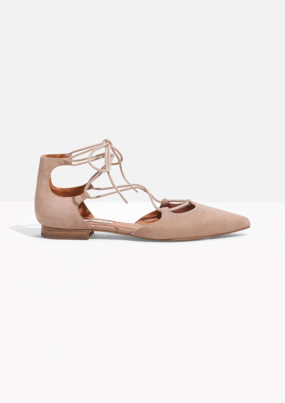 Ballerine lace-up beige & Other Stories