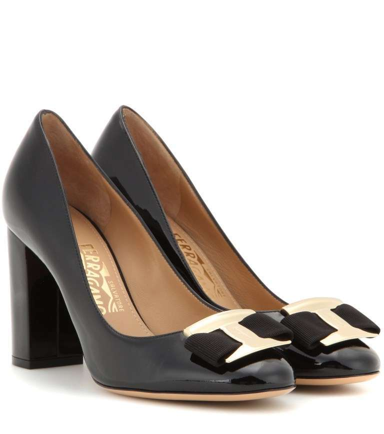 Pumps in vernice Salvatore Ferragamo