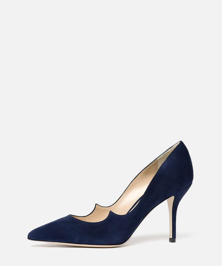 Pumps suede blu navy Paul Andrew