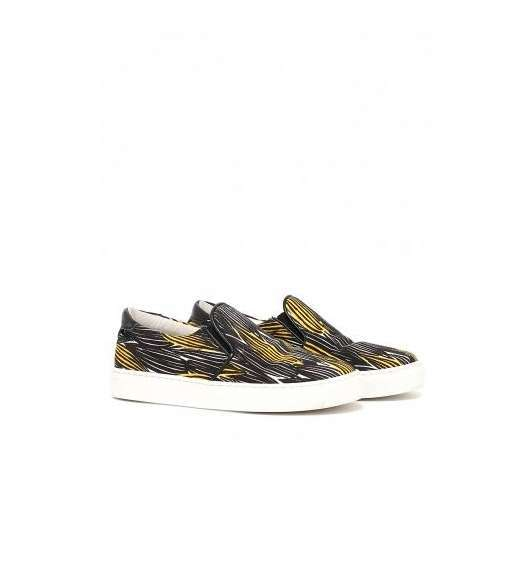 Slip on sneakers stampate