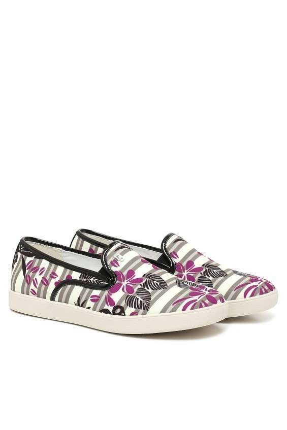 Slip on sneakers con stampa