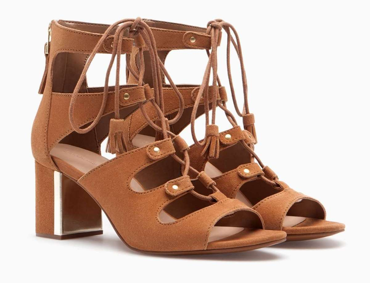 Sandali lace-up Stradivarius