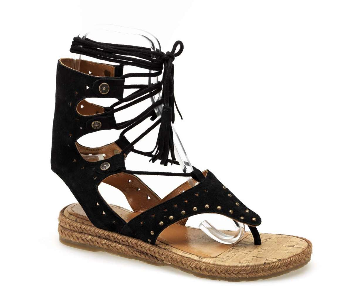 Sandali infradito lace up neri