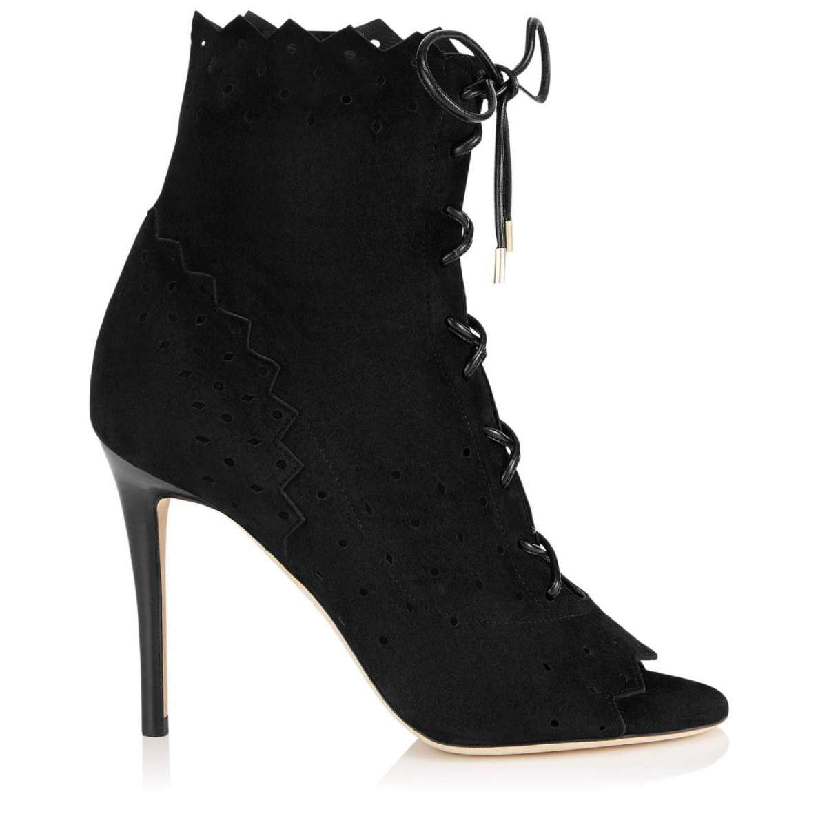 Ankle boot lace up Jimmy Choo neri