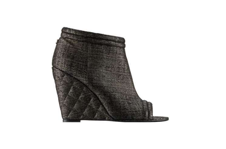 Ankle boot in agnello stampato Chanel