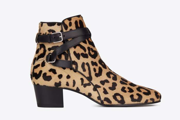 Ankle boot animalier Saint Laurent