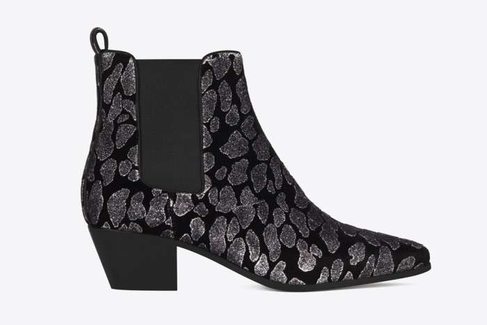 Ankle boot laminati Saint Laurent