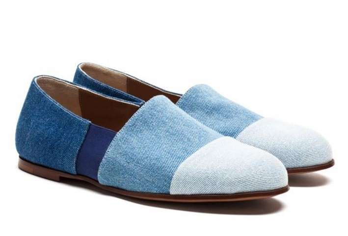 Slippers in denim Soloviere