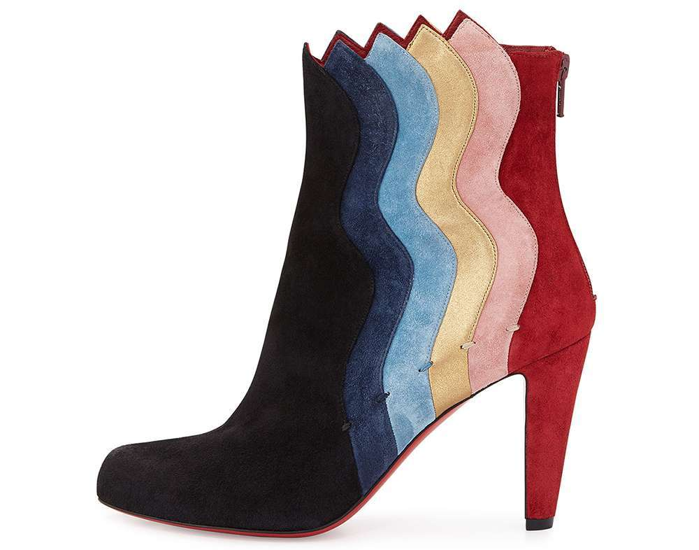 Ankle boot in color block
