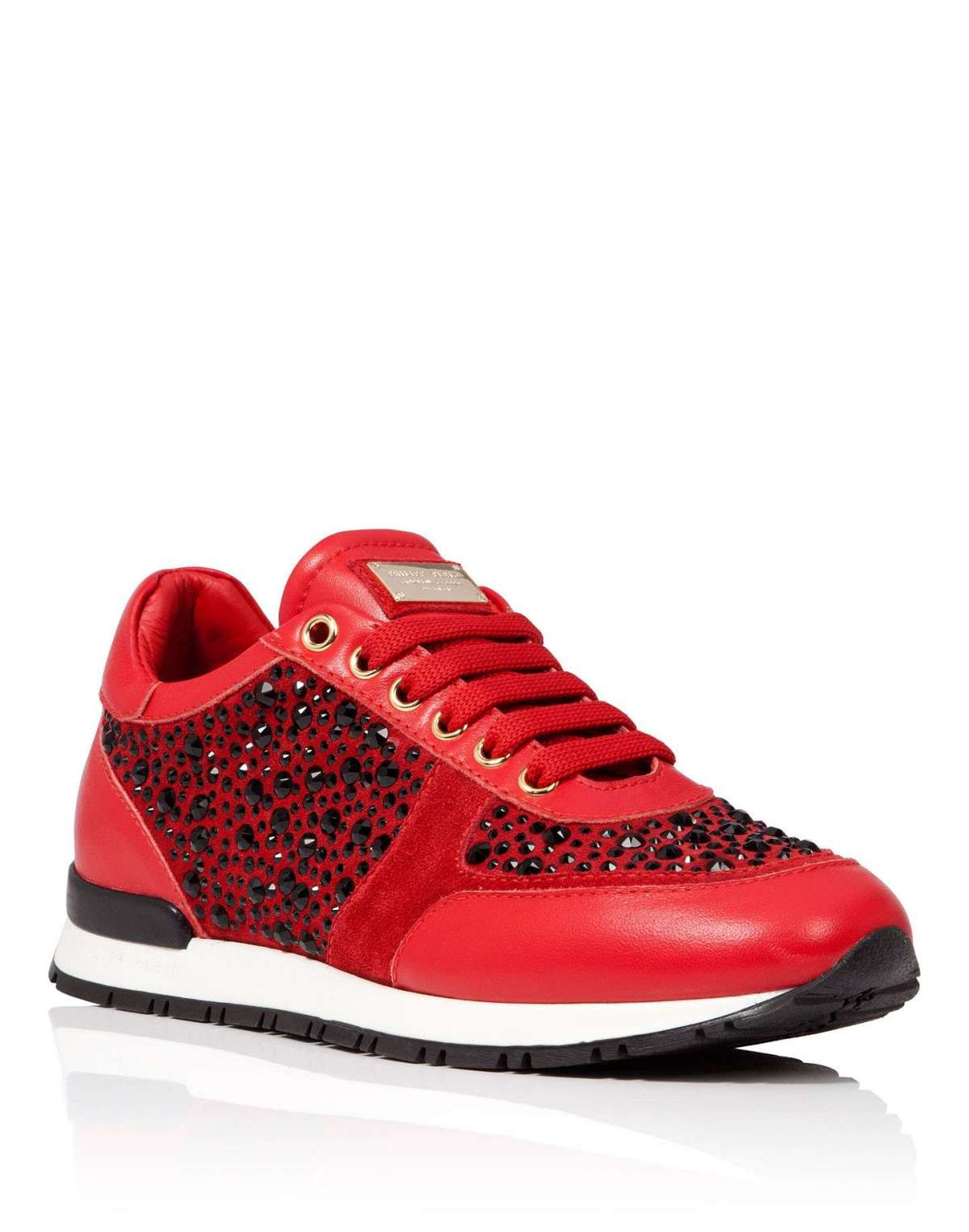 Sneakers rosse con strass