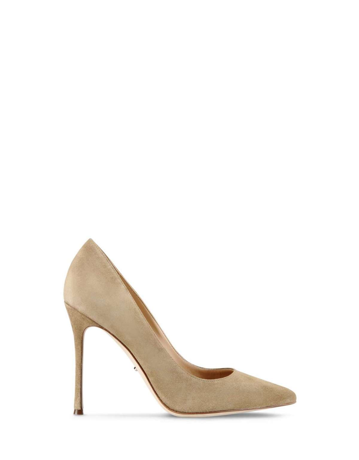 Pumps beige in suede Sergio Rossi