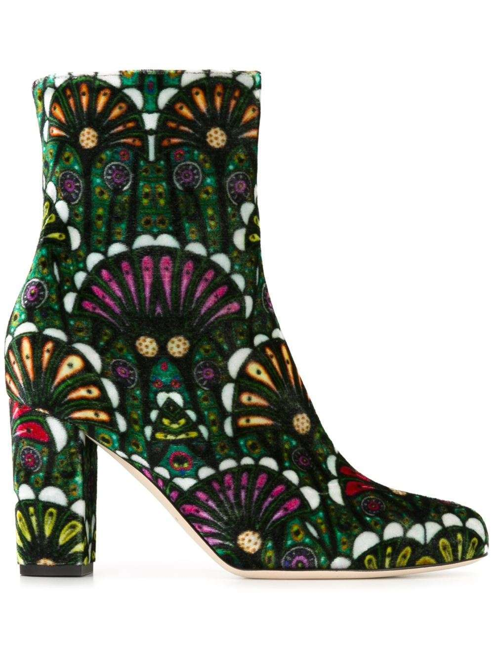 Ankle boots in velluto stampato Brian Atwood