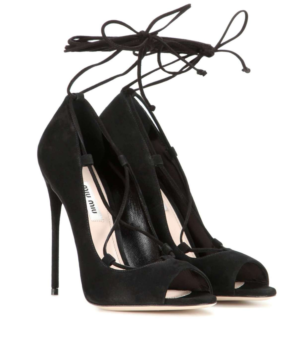 Peep-toe lace up Miu Miu