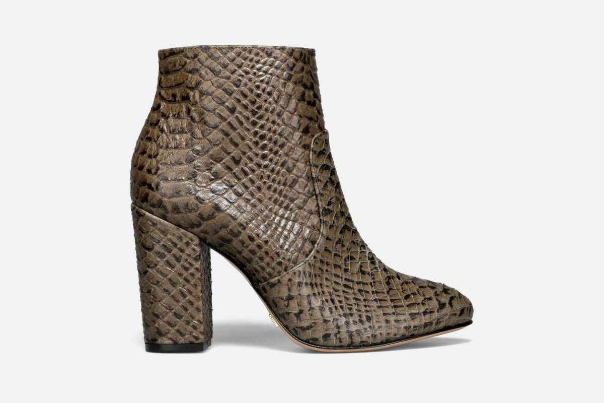 Ankle boots stampa rettile