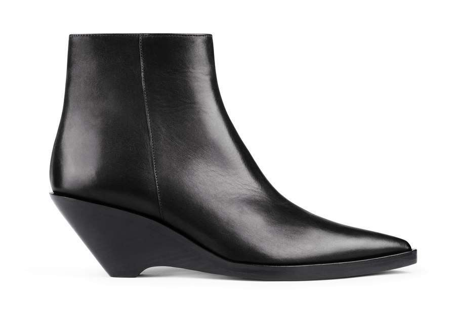 Ankle boots neri a punta