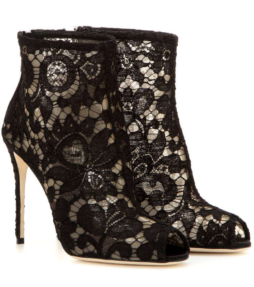 Ankle boots open-toe Dolce & Gabbana