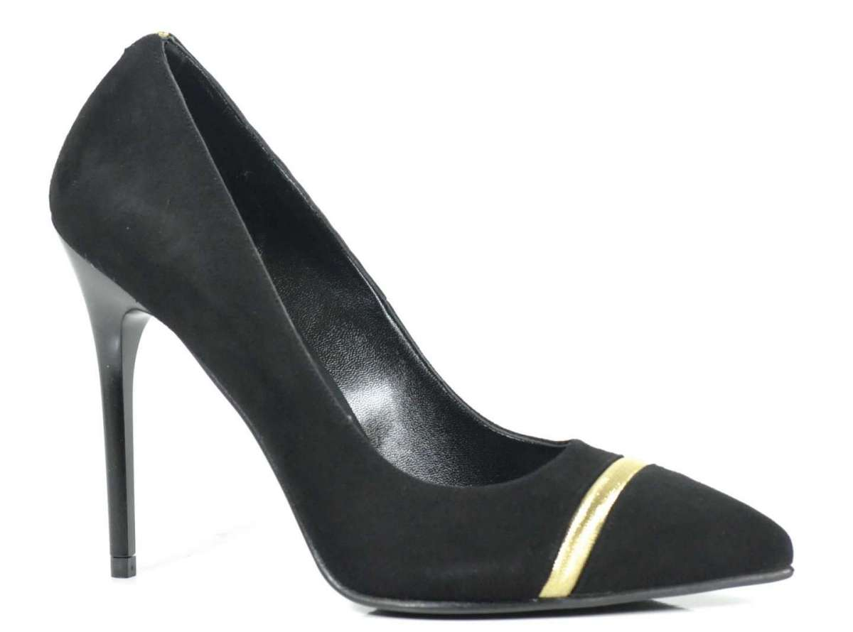 Pumps in camoscio nero
