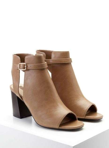 Ankle boots open-toe