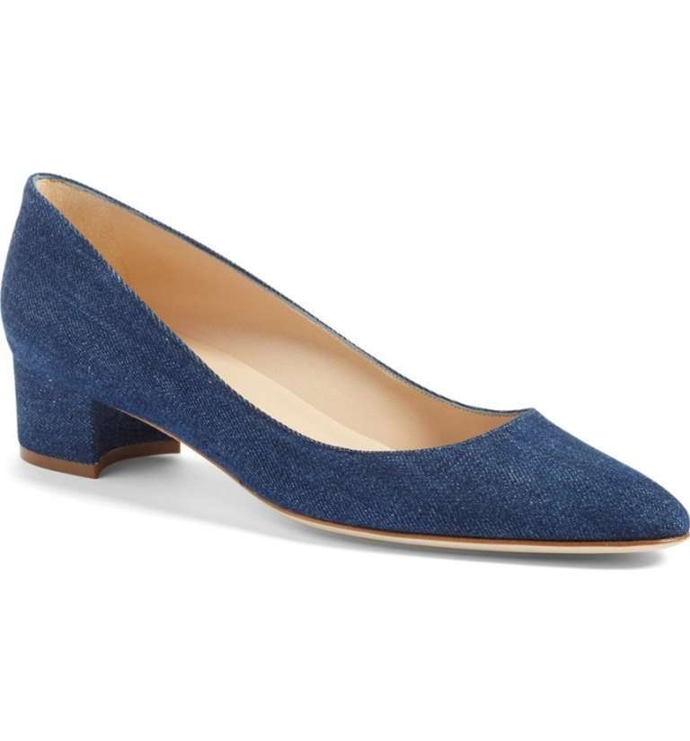 Pumps in denim Manolo Blahnik