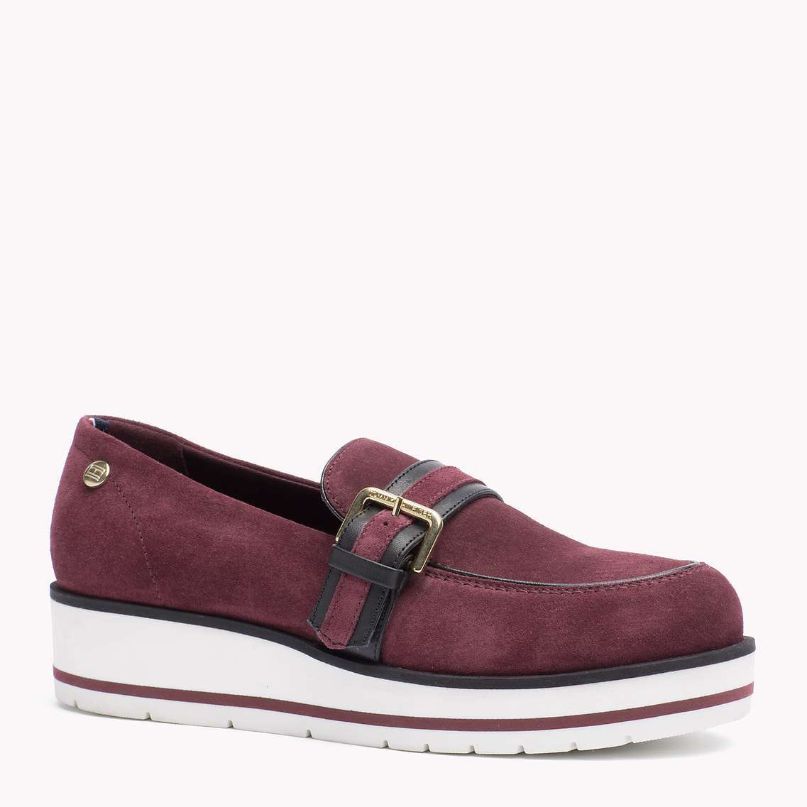 Mocassini in suede bordeaux