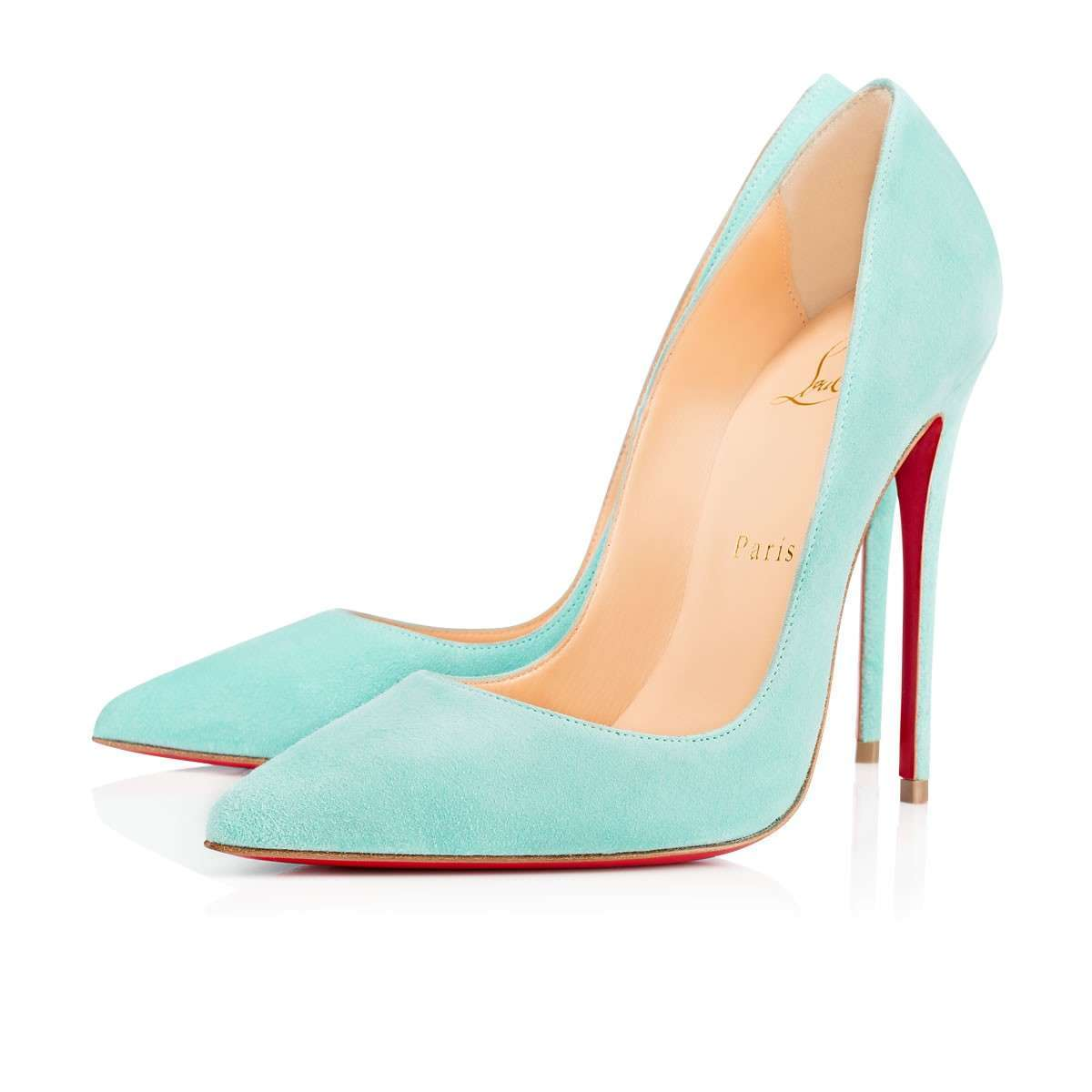 Pumps in suede pastello