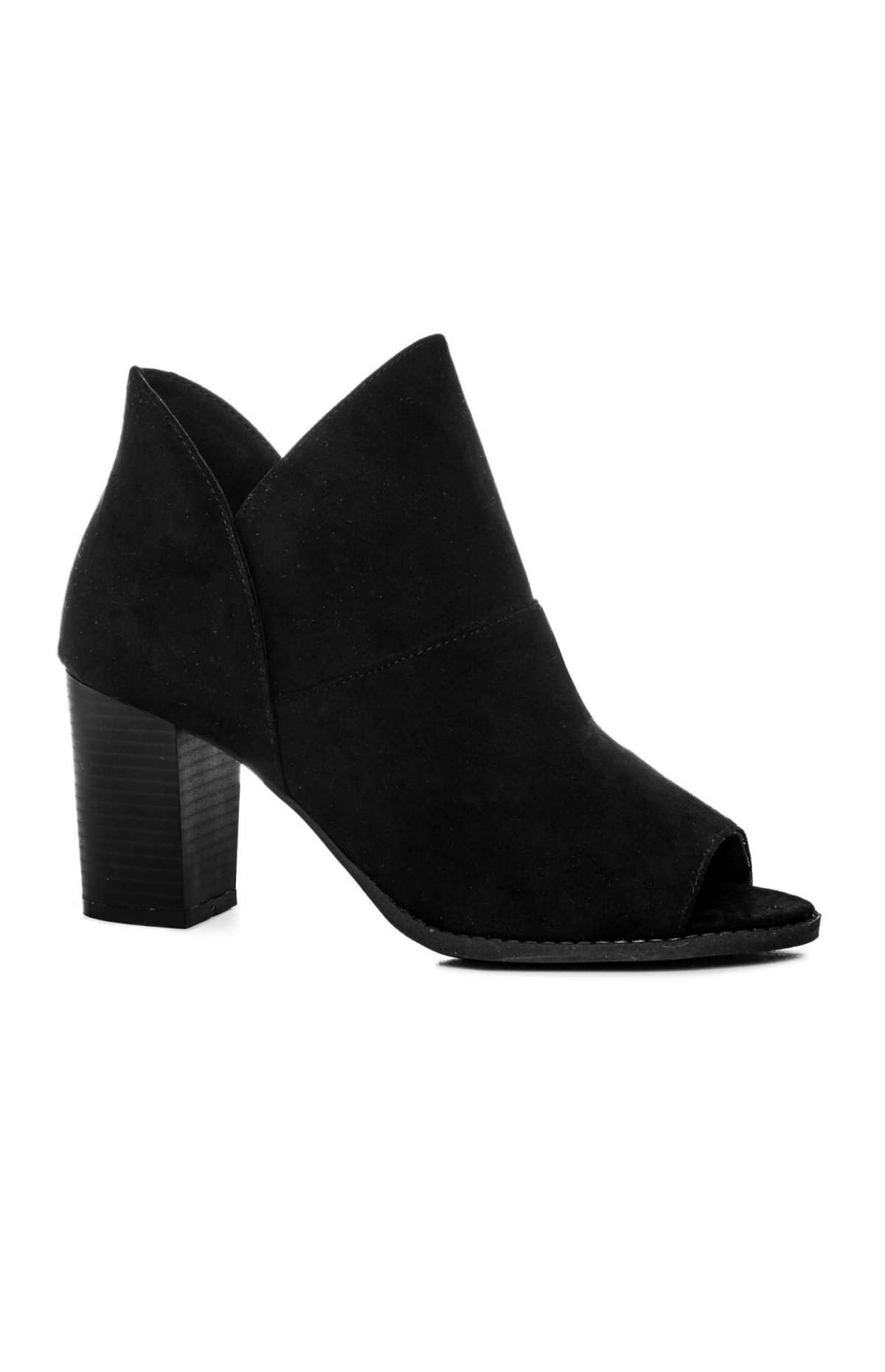 Ankle boot open toe