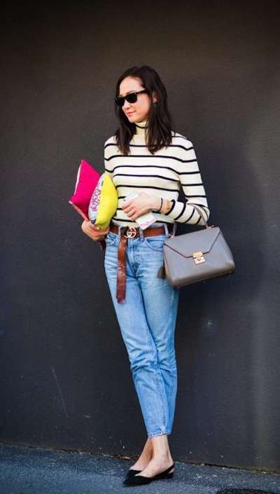 Look casual con slingback basse