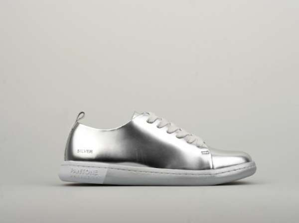 Sneakers basse argento