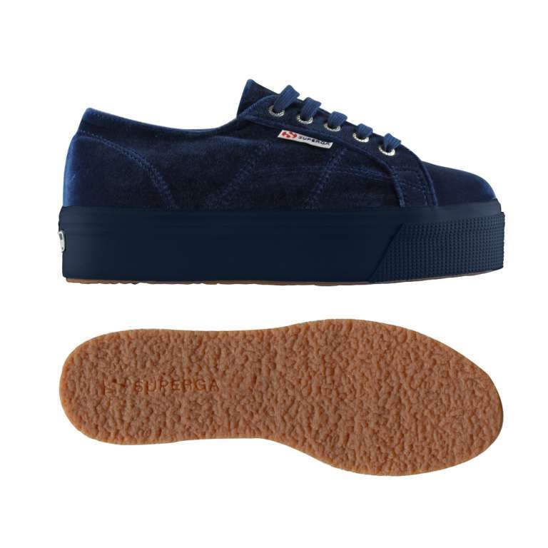 Scarpe blu scuro Superga