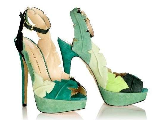 Charlotte Olympia, P/E 2012: Leaf Me Alone in verde