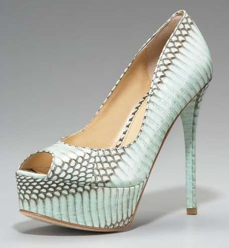 B by Brian Atwood, pumps in rettile