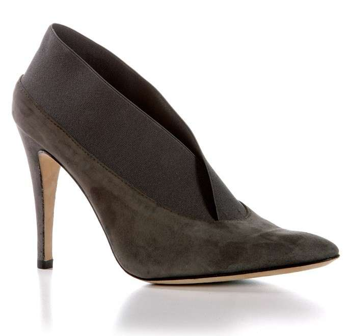 Manolo Blahnik, ankle boot in suede grigio