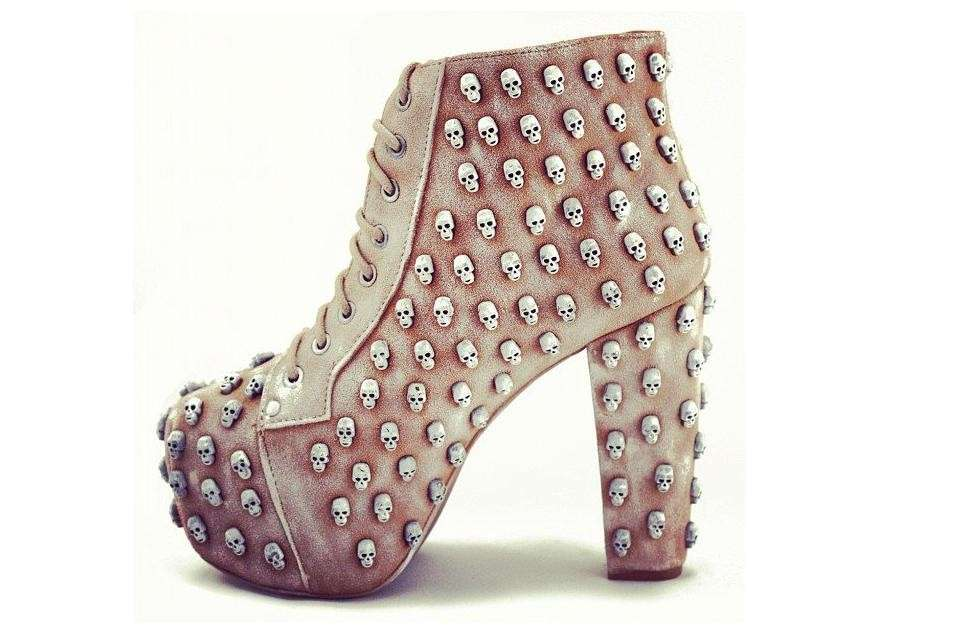 Jeffrey Campbell, ankle boot con teschi