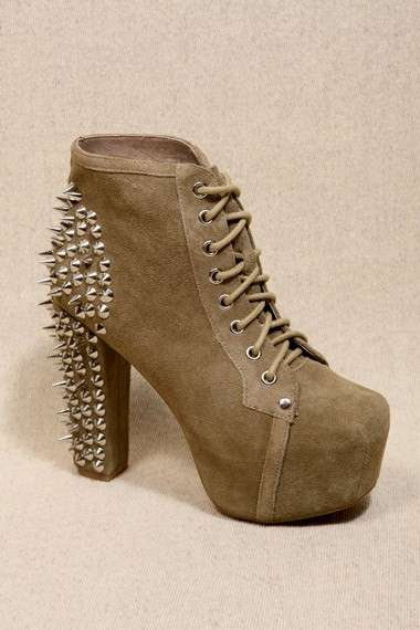 Jeffrey Campbell, stringate in suede