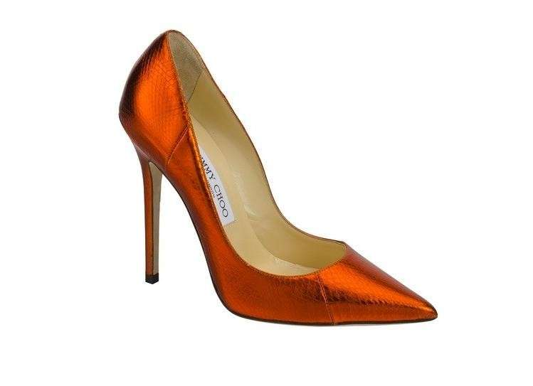 Jimmy Choo, pumps in vernice arancione