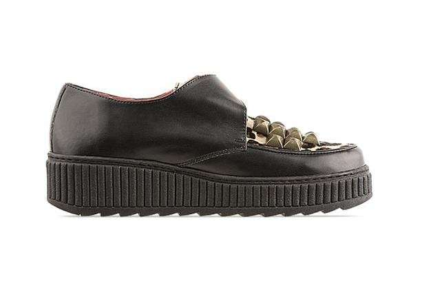 Creepers Jeffrey Campbell in pelle nera
