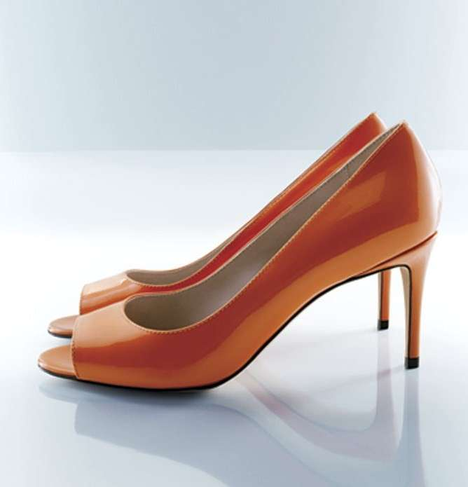 Peep-toe in vernice