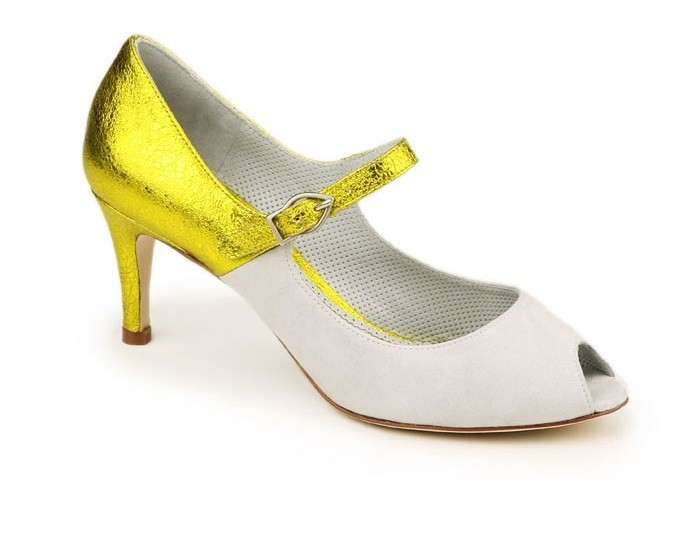 Mary jane peep-toe bicolor