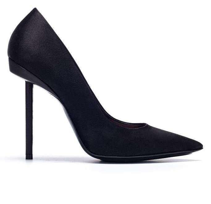 Pumps a punta in satin Barbara Bui